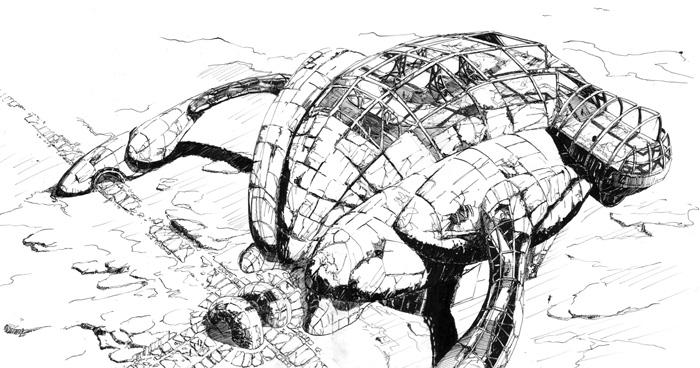 concept design science fiction santuary