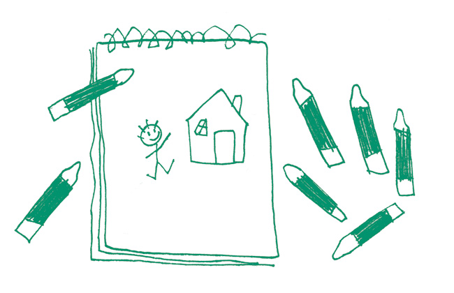 illustration merkur child´s drawing