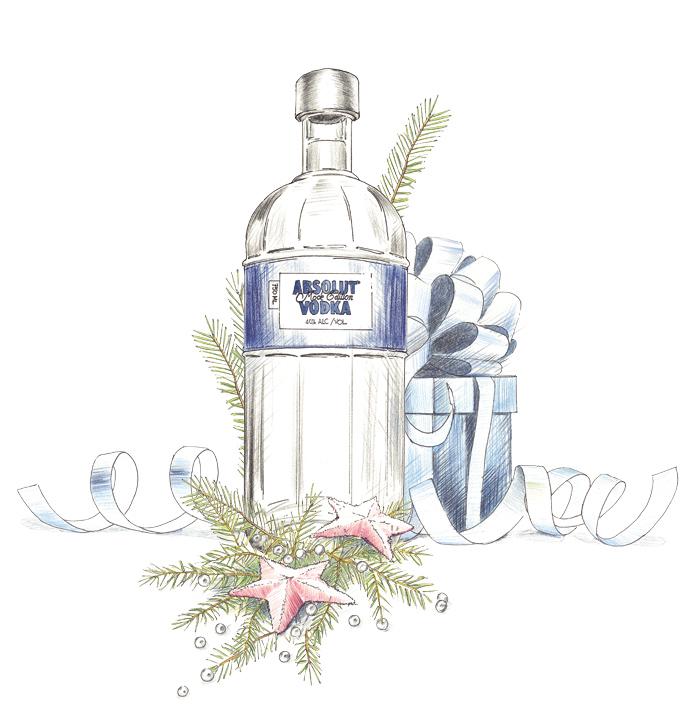Absolut Vodka advertising illustration by John Brito
