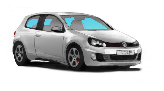 VW Golf 2 illustration by John Brito