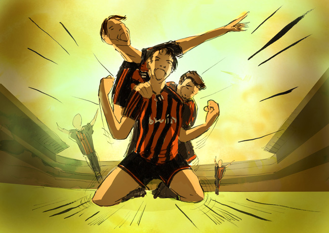 colored storyboard football TBWA