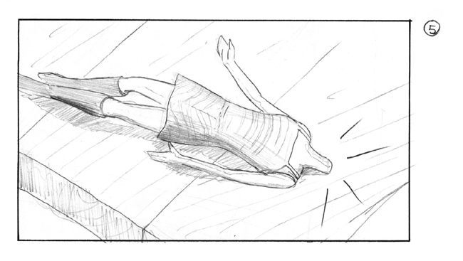 storyboard with angry girl