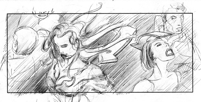 storyboard pencils beautiful girl
