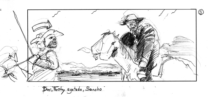 storyboard for raiffeisen/sabotage films with hermann maier acting as don quijote