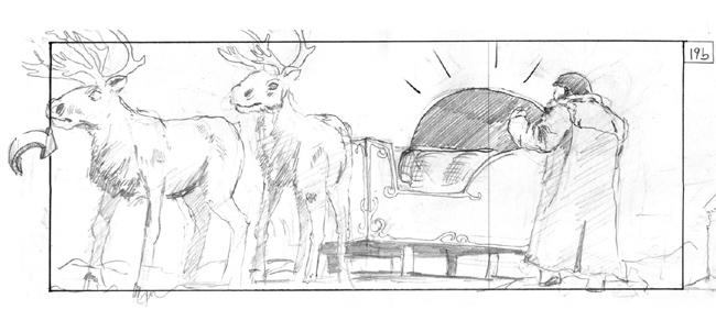 storyboard reindeer christmas
