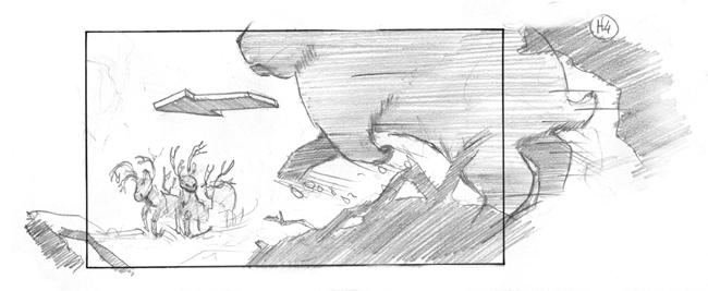 storyboard christmas rabbit