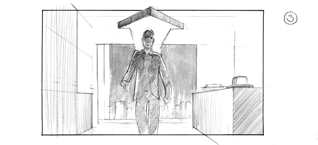 storyboard featuring Neuburger, directed by Christopher Schier
