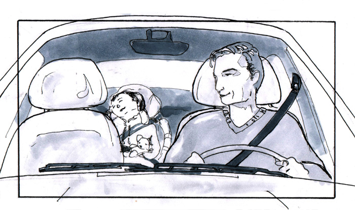 greytone storyboard: father and child